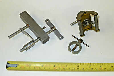 CLOCK MAINSPRING WINDER watchmakers tools HAND PULLER, LATHE DOUBLE FILLING REST