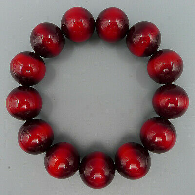 Natural Beeswax Round Bead Elastic Crafts Bracelet Bangle Handmade Charm Jewelry