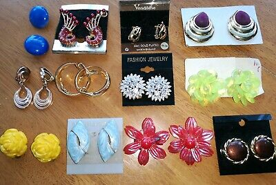 JOB LOT BUNDLE OF CLIP ON Earrings x12 PAIRS