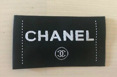 Orig. CHANEL Logo Kleidung Etikett Tags Clothing Labels für Jacket Kleid Mantel
