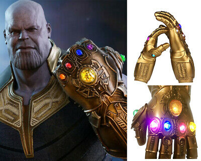 Avenge3 Infinity War Infinity Gauntlet With LED Light Thanos Gloves Cosplay Prop