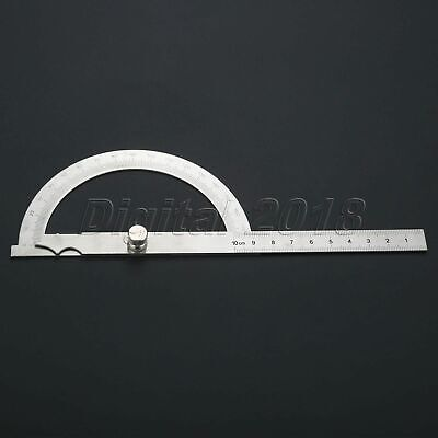 Hollow Scale 100mm Protractor Angle Finder Ruler Rotary 180 Degree Protractor