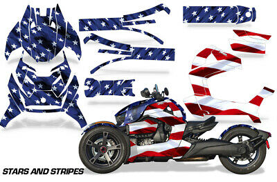 Full Body Wrap Graphic Decal for Can-Am Ryker 2019 Roadster Blue Reaper V2