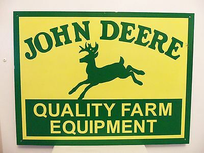 John Deere Sign Vintage Metal Farm Equipment Tractor Garage Gas Station Barn