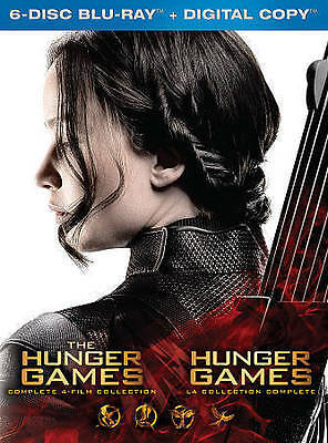 NEW !! The Hunger Games complete 4-film collection 6-disc Blu-Ray + digital HD