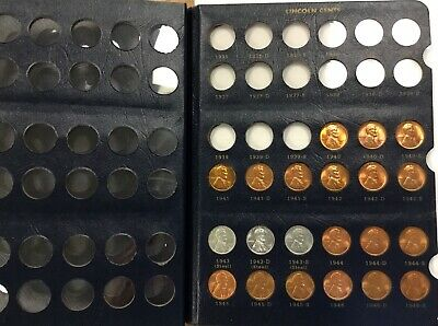 1940 -1977 Set of 98 Lincoln Cents in Whitman Album P D & S uncirculated  coins