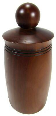 Container Canister Lid Turned Wood Hand Crafted Bush Art 18.5 cm / 7¼""