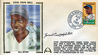 """James """"Cool Papa"""" Bell Autographed First Day Cover"""