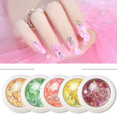 12 Colors Nail Art Decoration Irregular Shell Glitter Powder Sequin Manicure DIY
