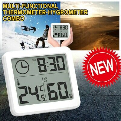 Electronic Projection Multi-functional LCD Thermometer Hygrometer Digital Clock