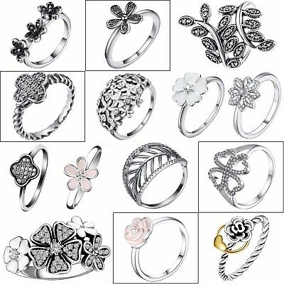 Female Silver Ring Zircon Flower Design Beautiful 925 Jewelry New Wedding Gifts