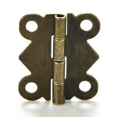 10sets Antique Brass Butterfly Hinge for Jewelry Chest Box Wood Cabinet Hot