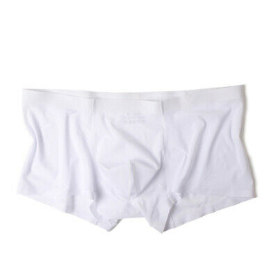 Pouch Boxers Underwear Shorts Lingerie Tight Seamless Elastic Mens Silky Bulge