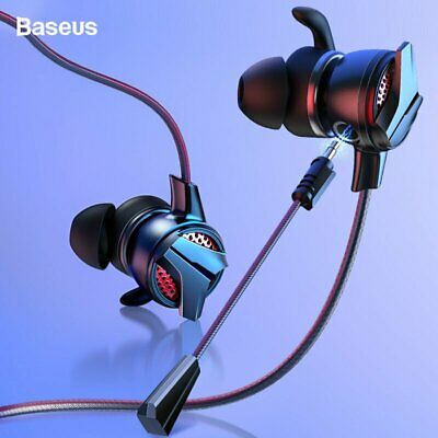 Baseus Wired Headset Gaming Headphones 3.5mm / Type C Jack Hi-Fi Earbud & Mic