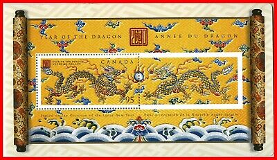 Canada Stamp Mint #1837 - Souvenir Sheet - Year of the Dragon (2000)