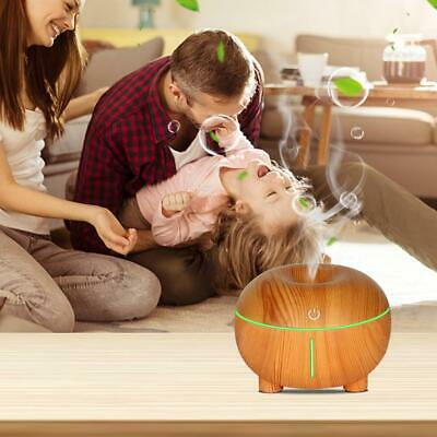 300ml USB Humidifier Aromatherapy Wood Grain LED Light Electric Diffuser tool