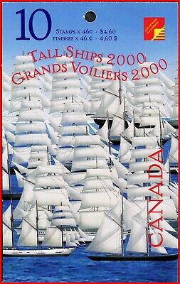 Canada Stamp Mint Se-tenant Pair in Booklet(BK230)  #1865b(1864-5) - Tall Ships