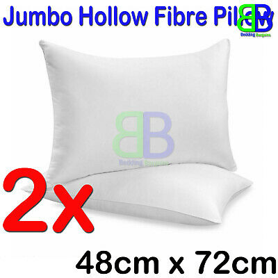 Kussens Luxury Bounce Back Hollow Fibre Filling Pillow Pair with free Case pack of 2