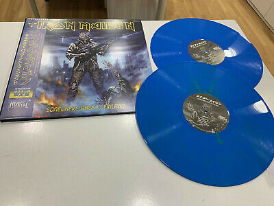 Iron Maiden 2 Lp  Somewhere Back In Finland Blue Vinyl