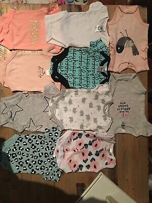 Newborn baby girl one piece summer pieces x 10 bundle size 0000 brand new