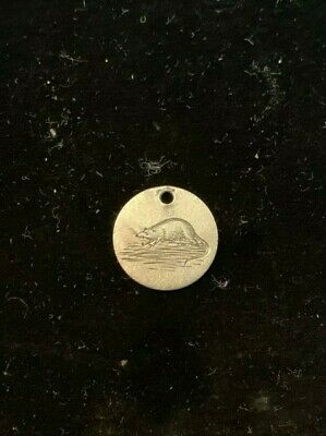 Queen Victoria 3D Silver Coin - Engraved With A Rat . Love Token / Charm .