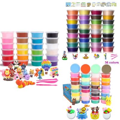 Air Drying Modelling Clay Kit Ultra Light Non Toxic Multi Coloured Set Kids DIY