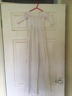 Victorian,Edwardian babies white cotton christening robe,long dress,for displays