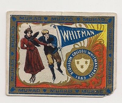 1910 Murad College Sports card 119 yrs old Whitman College Washington Skating