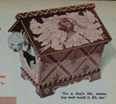 Pooch PALACE Small Dog House 1948 HowTo Build PLANS
