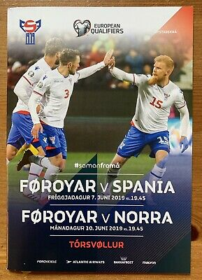 2019 Faroe Islands Føroyar v Spain & Norway European Qualifiers double issue