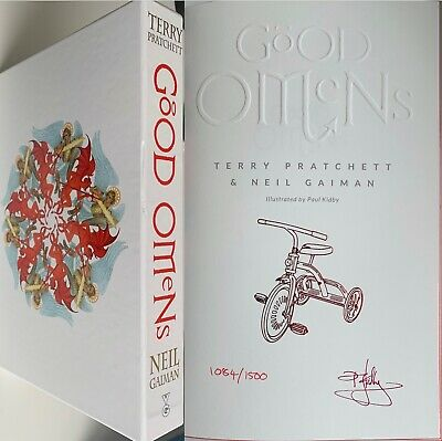 Neil Gaiman Terry Pratchett The Illustrated Good Omens Signed Paul Kidby 1/1500