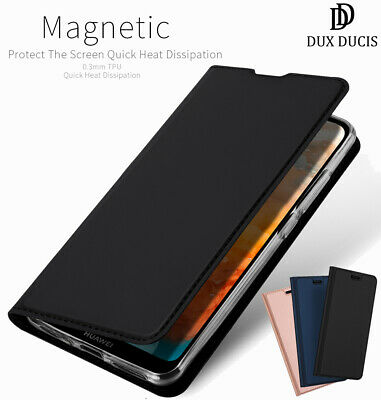 Dux Ducis For Huawei Y6 2019 PU Leather Flip Case Wallet Magnetic Stand Cover