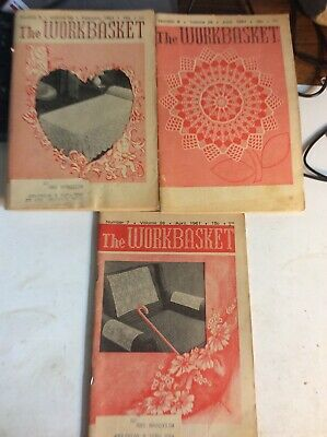 Lot of 3 Vintage Issues, February ,June & April 1961 ) The WORKBASKET Magazine