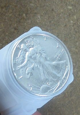 Roll (20 Coins) Walking Liberty Silver Halves    Au/Better