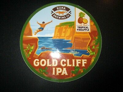 KONA BREWING Hawaii Longboard Lager Gold Cliff STICKER decal craft beer brewery