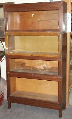 Antique MACEY Quarter Sawn OAK Mission Style 4 Tier STACKED BARRISTER BOOKCASE
