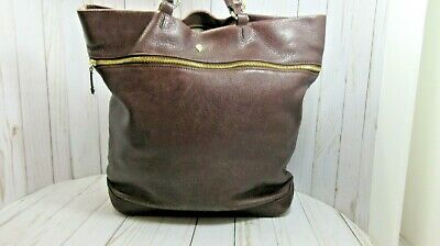 IIelen Kaminski Brown Leather Shoulder Bag Satchel Handbag Huge Quality Material