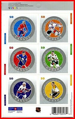 Canada Stamp Mint Full Booklet  #2086(2086a-f) - NHL All Stars  (2005)
