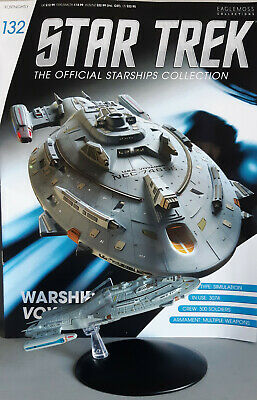STAR TREK Official Starships Magazine #132 Warship Voyager Starship EAGLEMOSS en