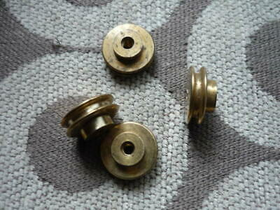 Small BRASS pulley wheels Model makers / clock parts etc.