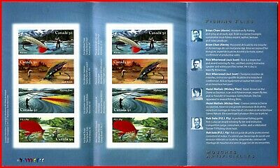 Canada Stamp Mint Full Booklet(BK306)  #2088a-d - Fishing Flies  (2005)