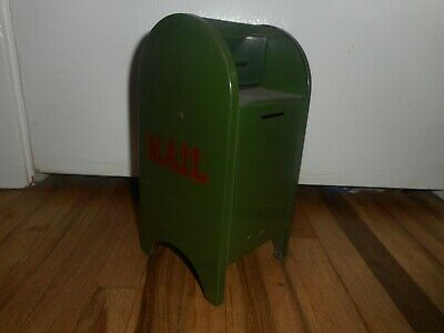 Vintage Green USPS United States Postal Service Post Office Mail Box Penny Bank