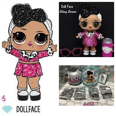 LOL Surprise Dollface Series 2 Doll Ball Glam Glitter Bling Series AUTHENTIC NEW