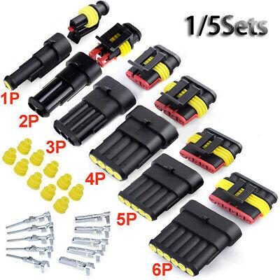 5P 6P  Electrical Wire Automotive Waterproof Connectors Male and Female Plug
