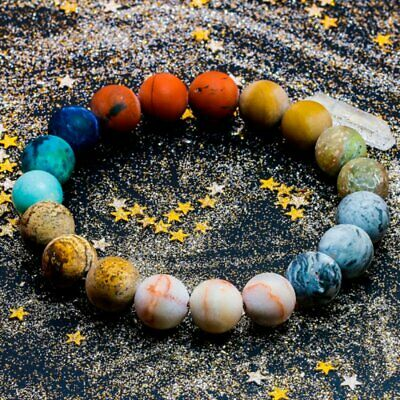 Universe Solar System Planets Bracelet 10mm Beads Natural Stone Bracelet Bangle