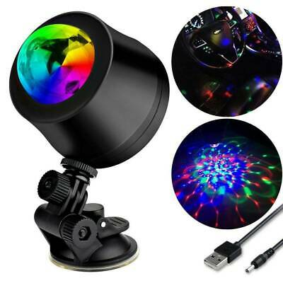USB LED RGB Disco DJ Ball Strobe Light Effect Party Birthday Stage Car Lamp A