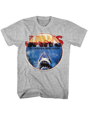 NEW NWT Jaws Never Go In The Water Again T-Shirt, Officially Licensed Large