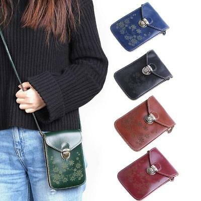 Women Crossbody Cell Phone Shoulder Bag Multi-functional Mobile Pouch BB