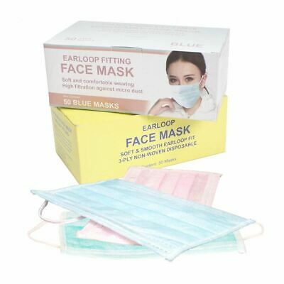 Disposable 3-Layer Earloop Face Mask Variety Color