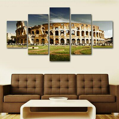 Colosseum Ancient Roman Arena Painting Canvas Modern Picture Art Wall Home Decor